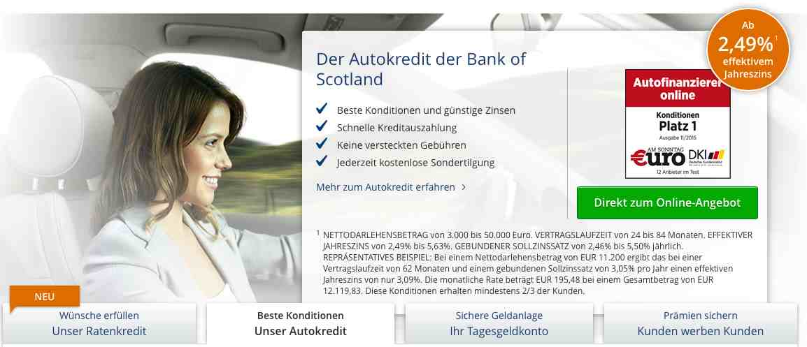 autokredit von bank of scotland kredit test. Black Bedroom Furniture Sets. Home Design Ideas