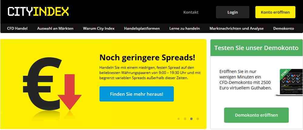 City Index Erfahrungen - Webseite