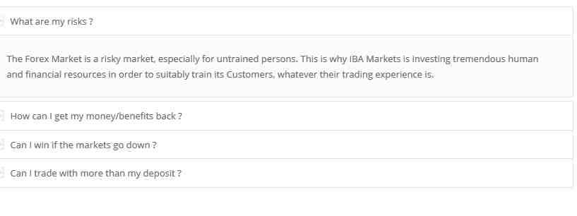 IBA Markets Erfahrungen - FAQ