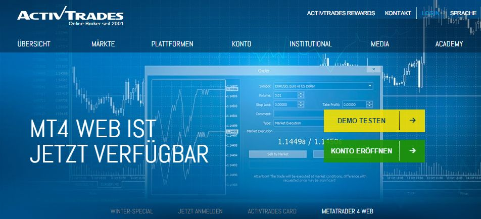 ActivTrades - Forex I CFDs I MT4 I MT5 und Mobiles Trading