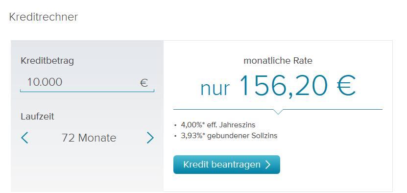 Consorsbank - Kreditrechner