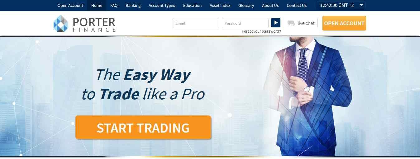 Porter Finance Erfahrungen - Webseite