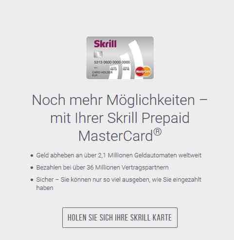 Skrill Erfahrungen - Kreditkarte