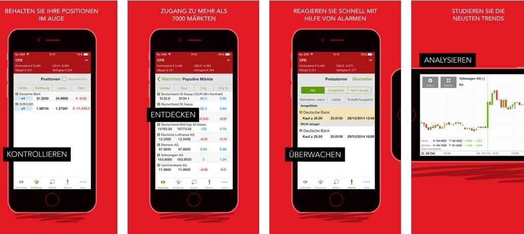 IG Markets App - Funktionen