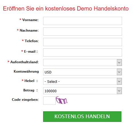 IronFx App - Demokonto
