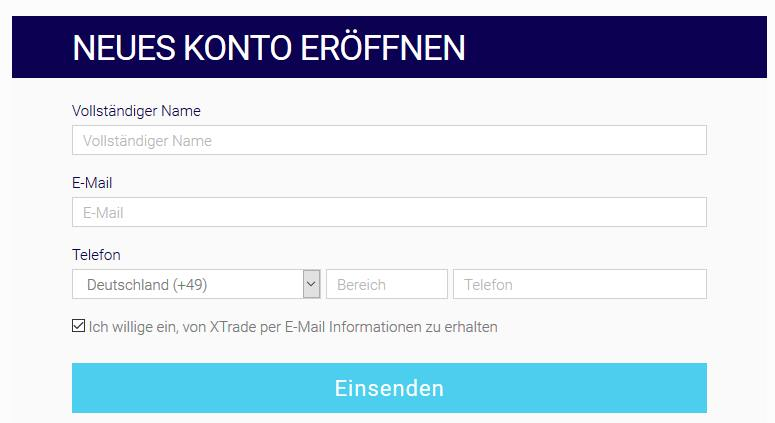 XTrade App - Demokonto