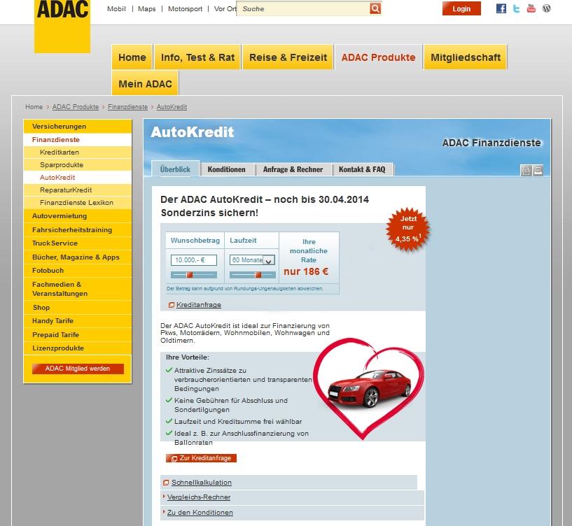 autokredit adac