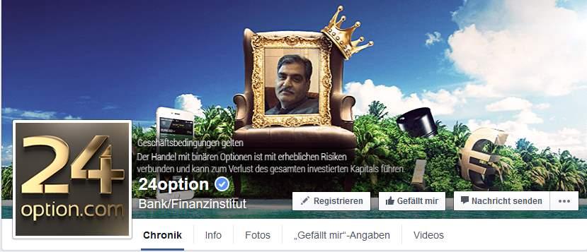 24Option App - Facebook