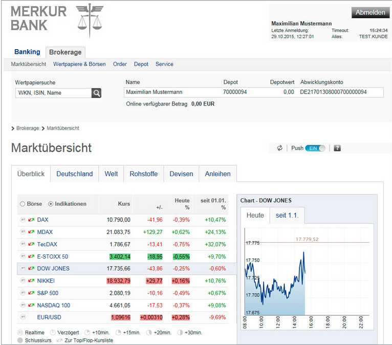 Merkur Bank - Plattform