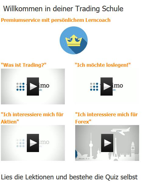 Tradimo - Lektionen