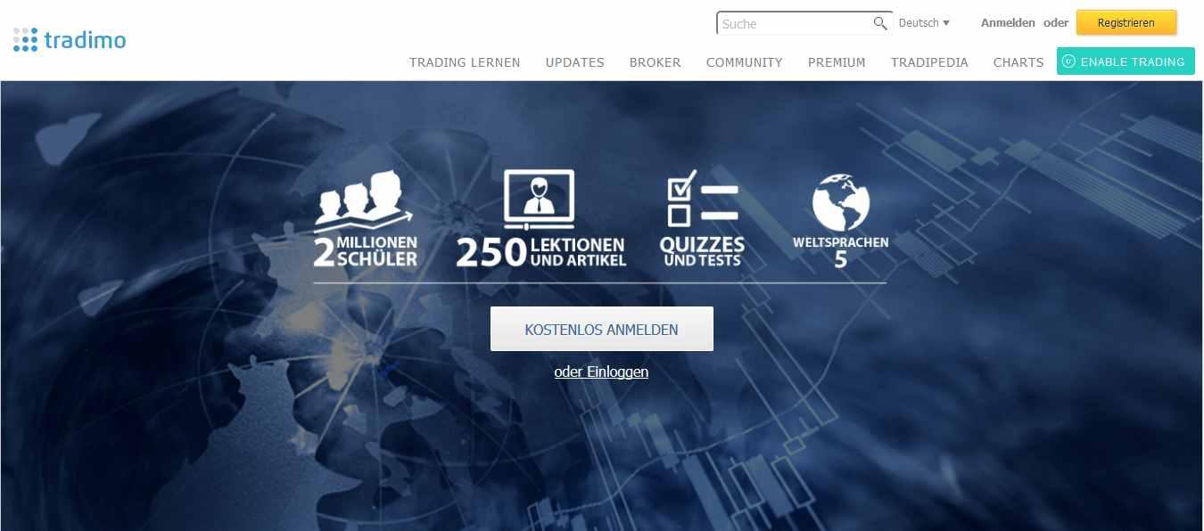 Tradimo - Webseite