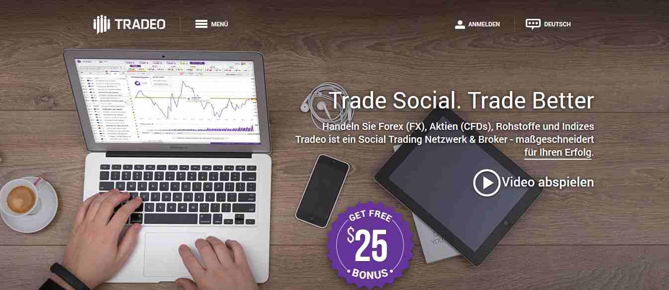 Tradeo - Webseite