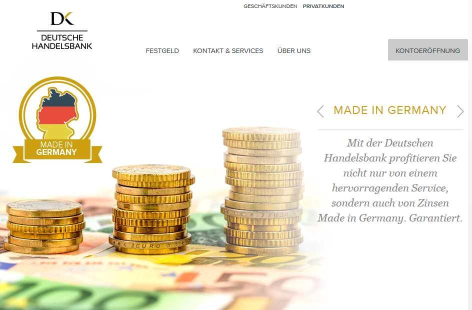 Deutsche Handelsbank - Webseite