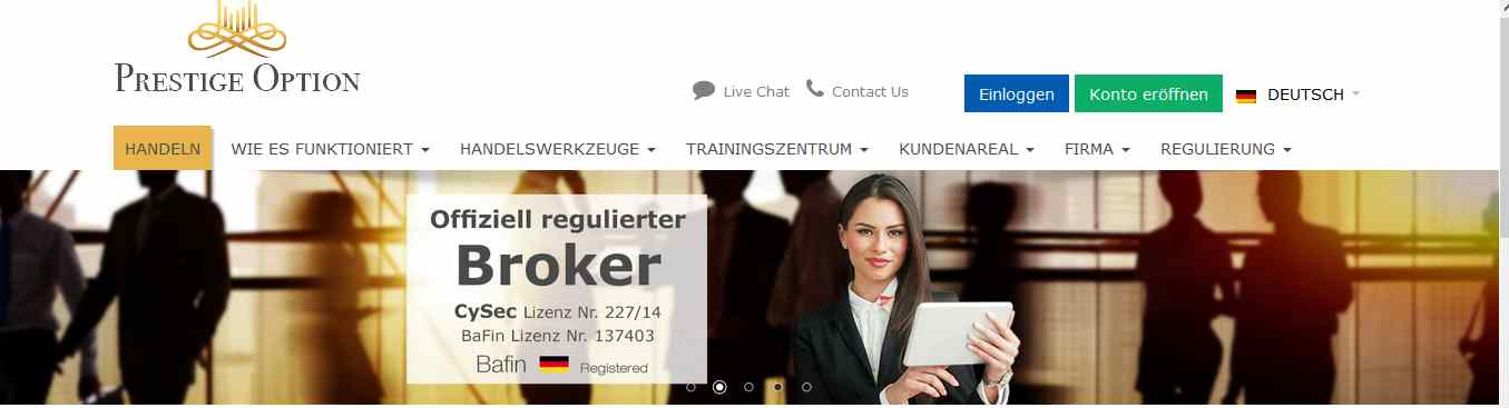 Binare optionen broker mit sitz in deutschland
