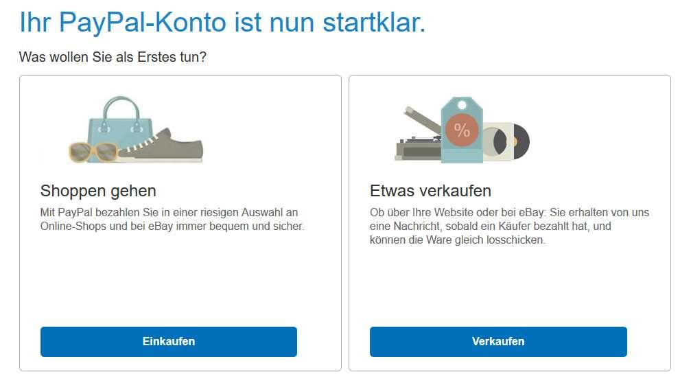 PayPal Erfahrungen - Konto Bestätigung