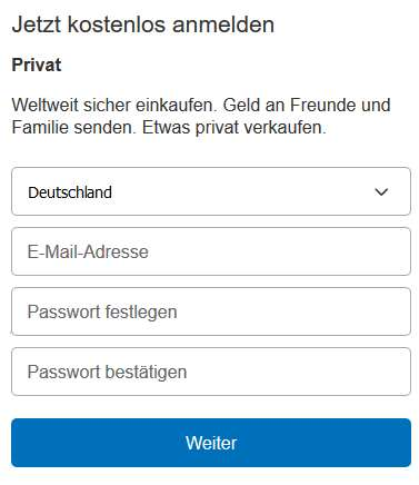 paypal log in deutsch