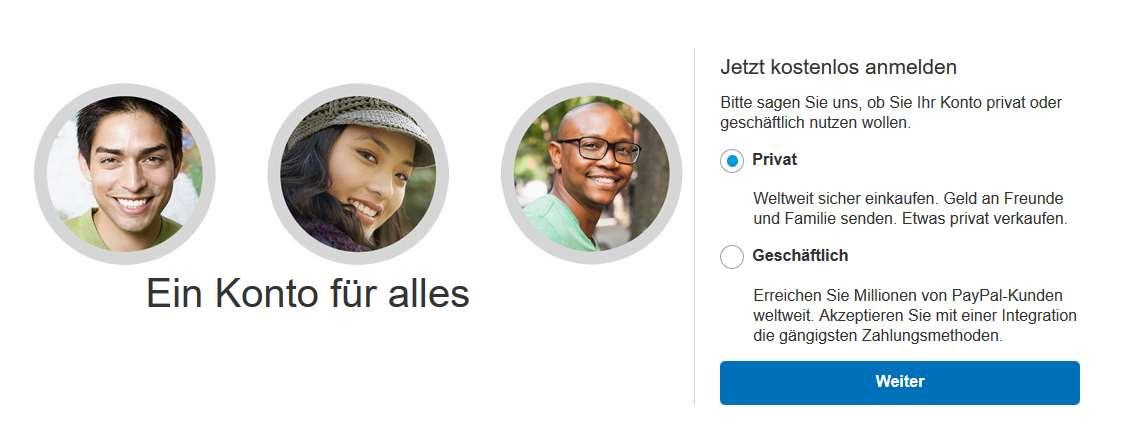 PayPal Erfahrungen - Konto eröffnen