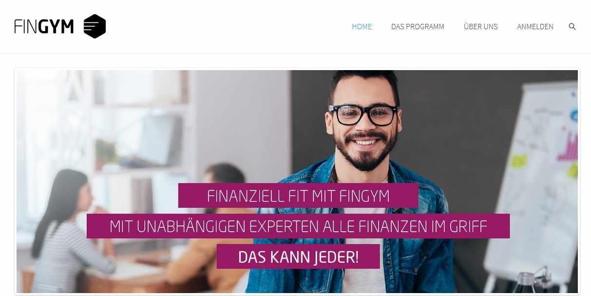 FinGym - Webseite