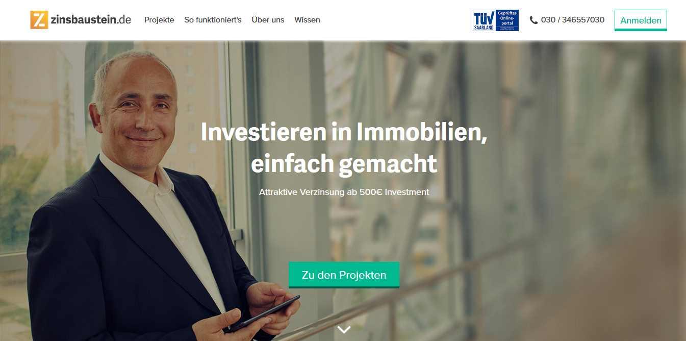 Zinsbaustein - Webseite