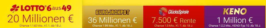 Lotto.de Erfahrungen - Lotterien