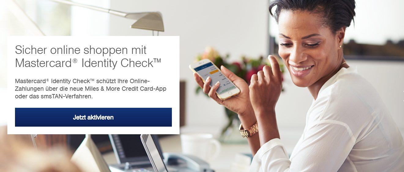 Mit der Miles & More Mastercard kann man sicher online shoppen