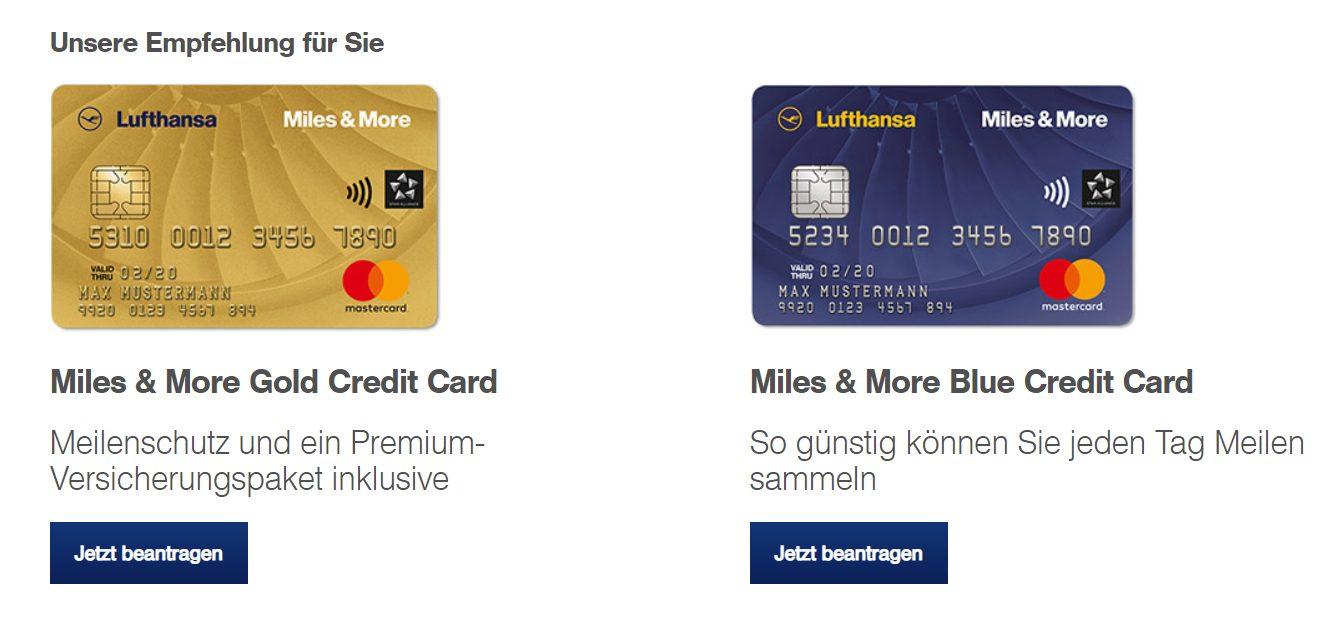 Die Miles & More Kreditkartenempfehlung