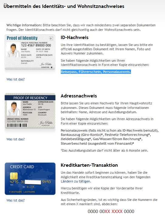 Saxo Bank - Dokumente