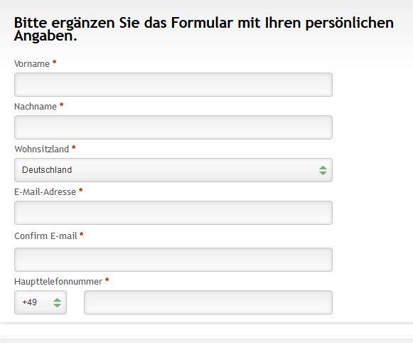Saxo Bank - Online Formular