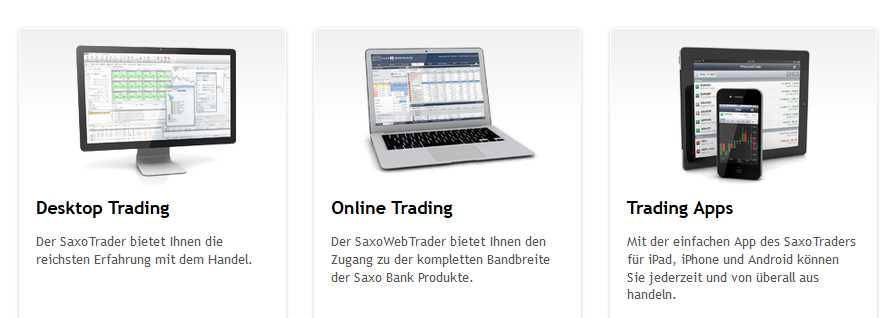 Saxo Bank - Plattformen