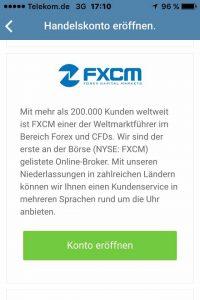SwipeStox - FXCM eröffnen