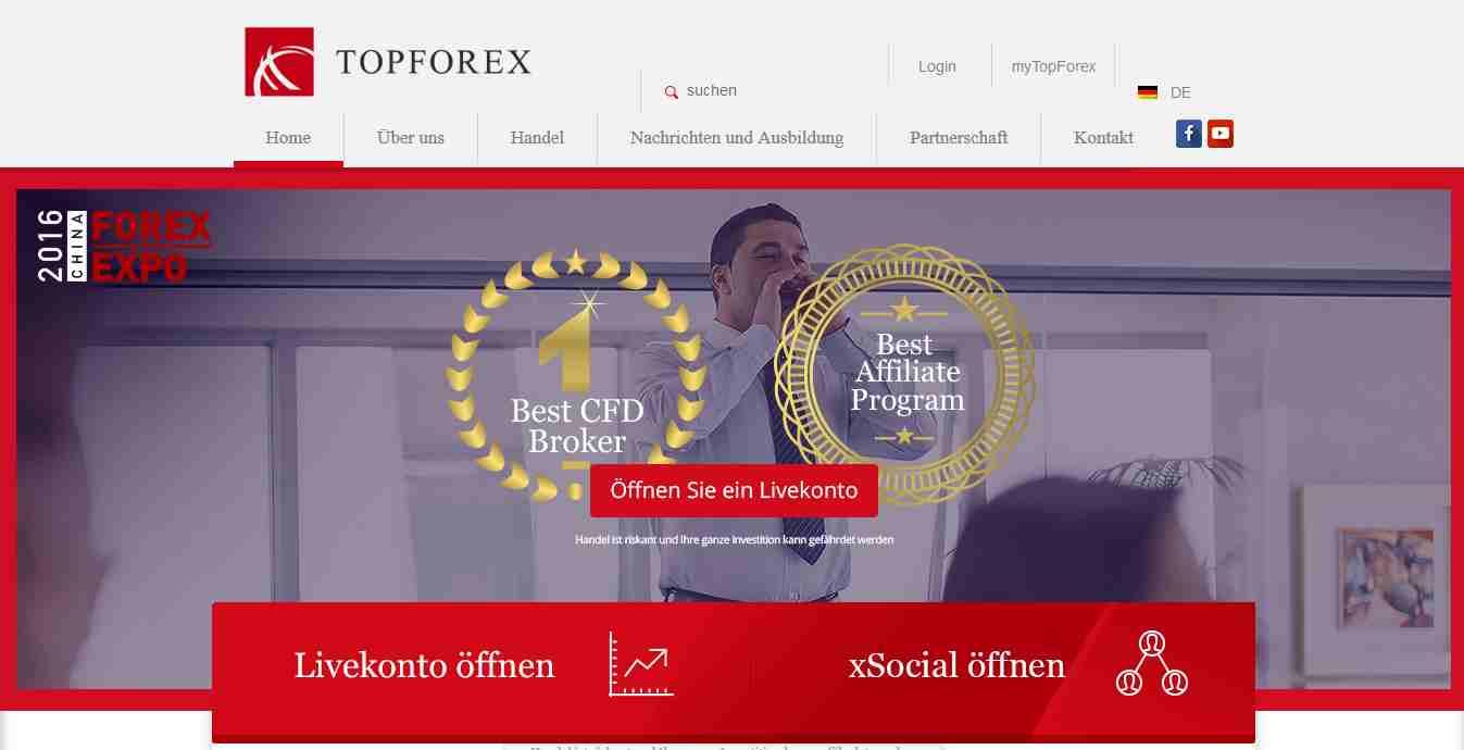 TopForex Erfahrungen - Webseite