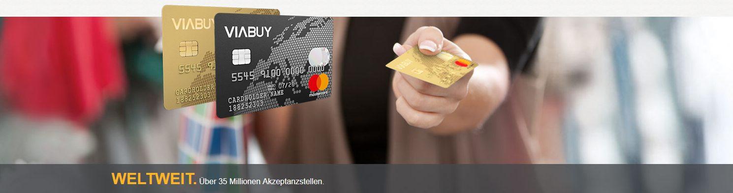 Die VIABUY Mastercard ist weltweit einsetzbar