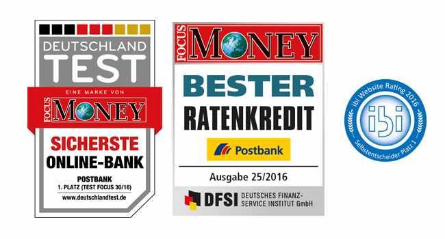 Postbank Kredit - Auszeichnungen