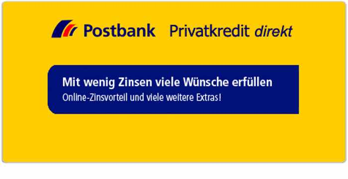 Postbank Kredit - Header