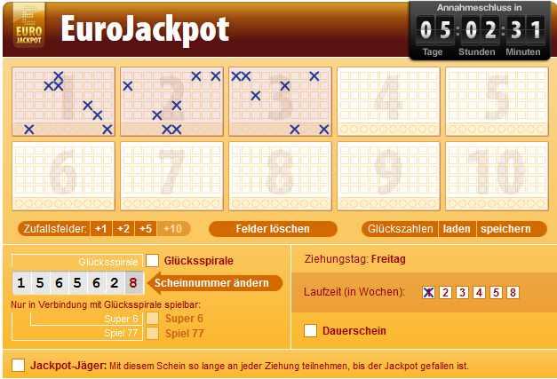 Eurojackpot Schein Kontrollieren
