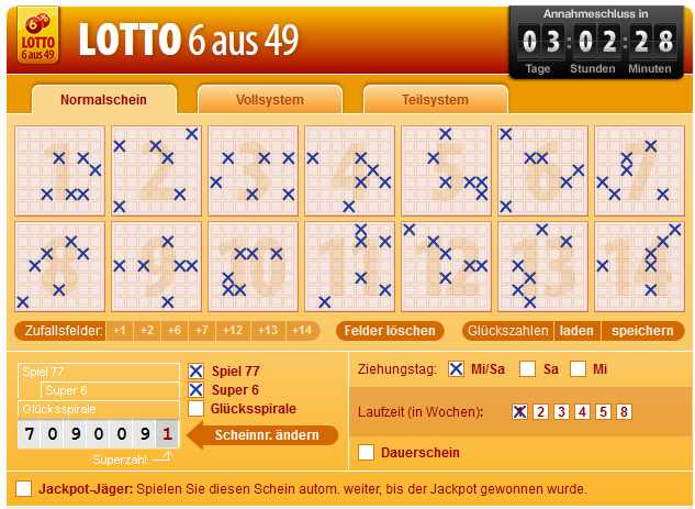 Deutsch Lotto 6 Aus 49