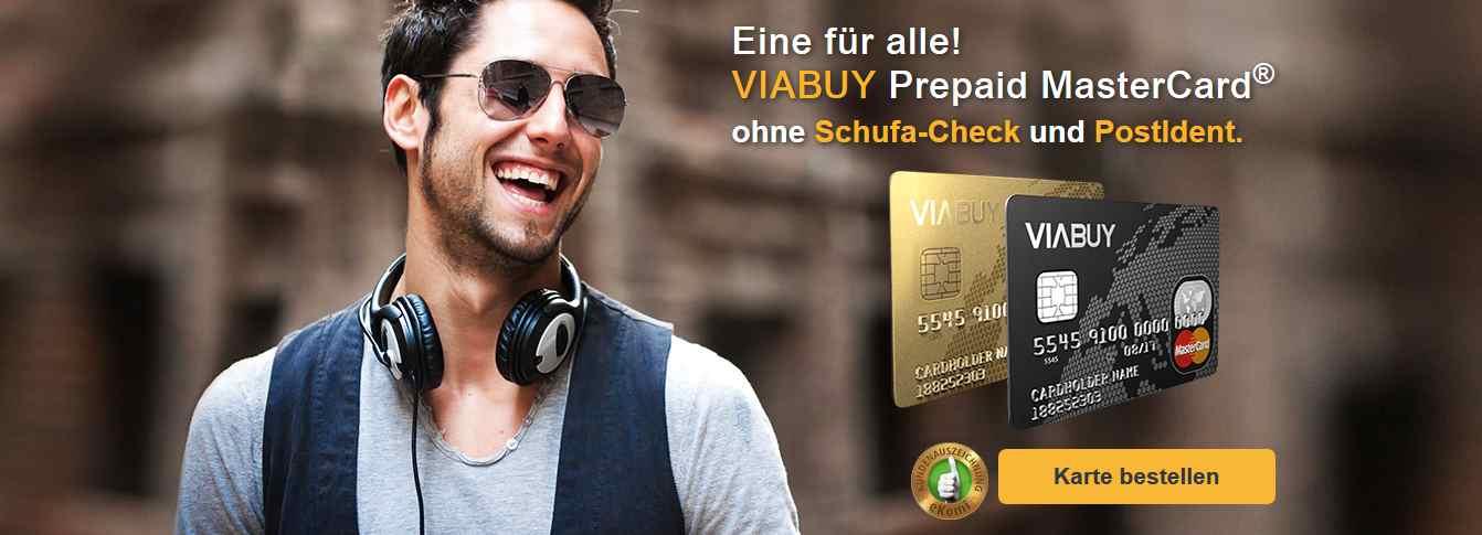VIABUY bietet die Mastercard ohne Schufa & PostIdent an