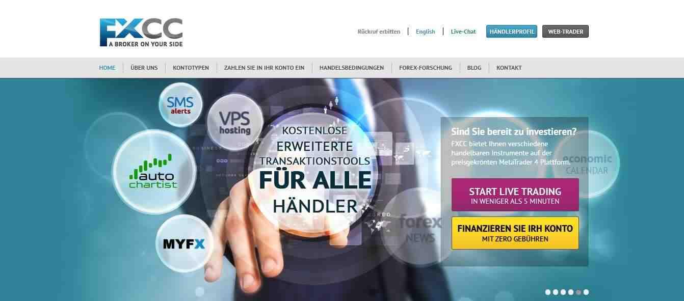 FXCC Erfahrungen - Webseite