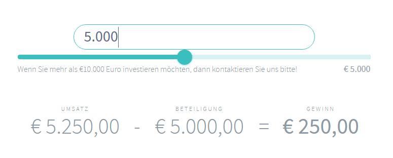iFunded Erfahrungen - Investitionsrechner