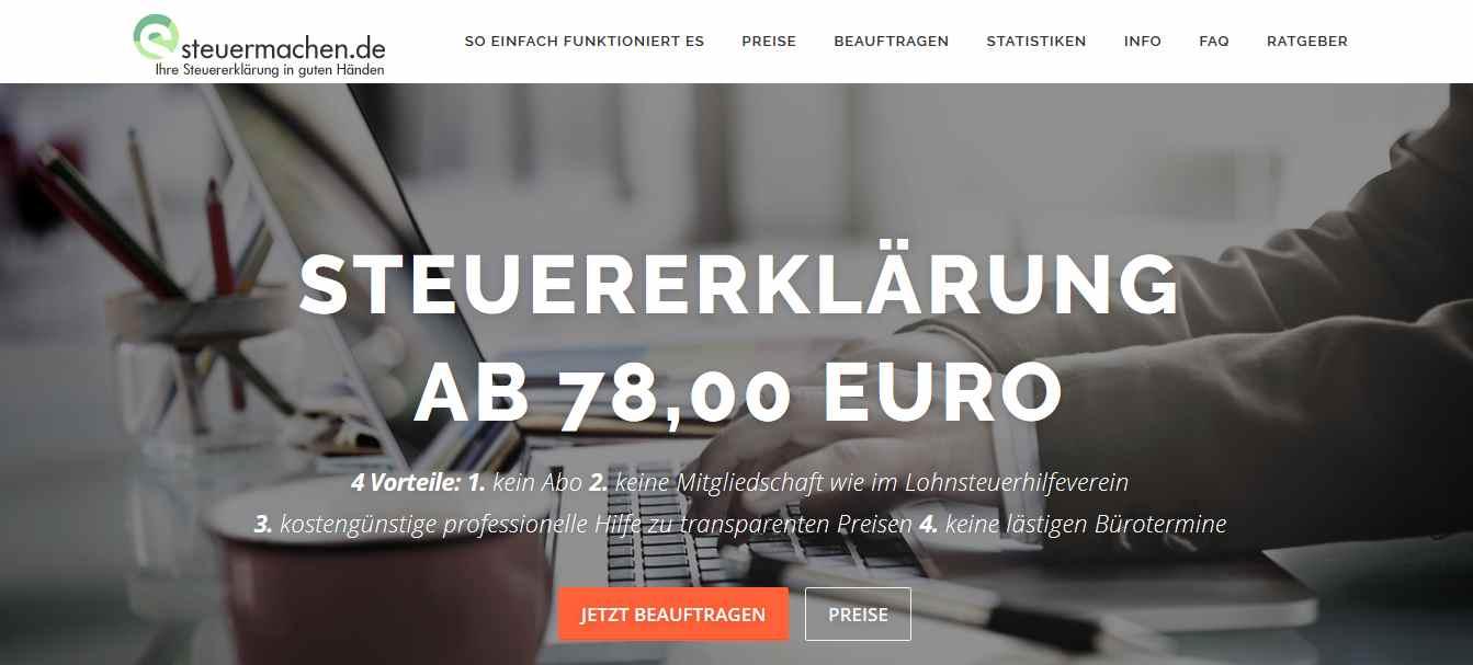 steuermachen.de Erfahrungen – Steuererklärung online beauftragen