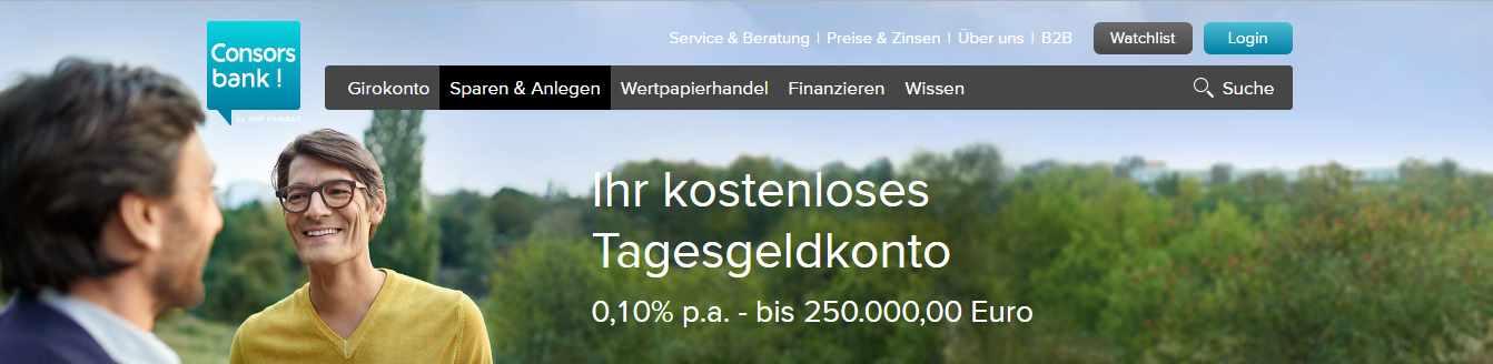consorsbank tagesgeld zinsen bestandskunden