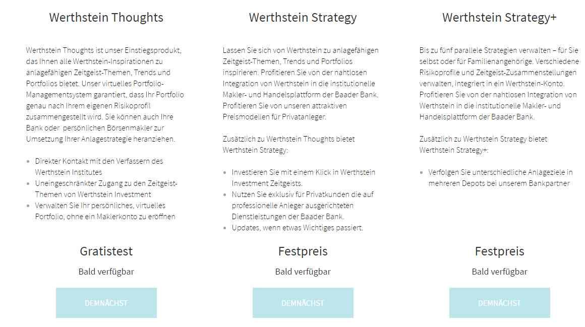 Werthstein - Pakete