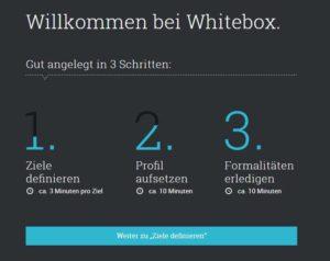 Whitebox Erfahrungen - Anlageprozess