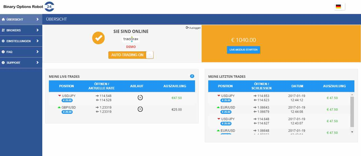 binary option robot erfahrungen