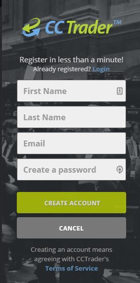 CCTrader Erfahrungen - Anmeldung 2