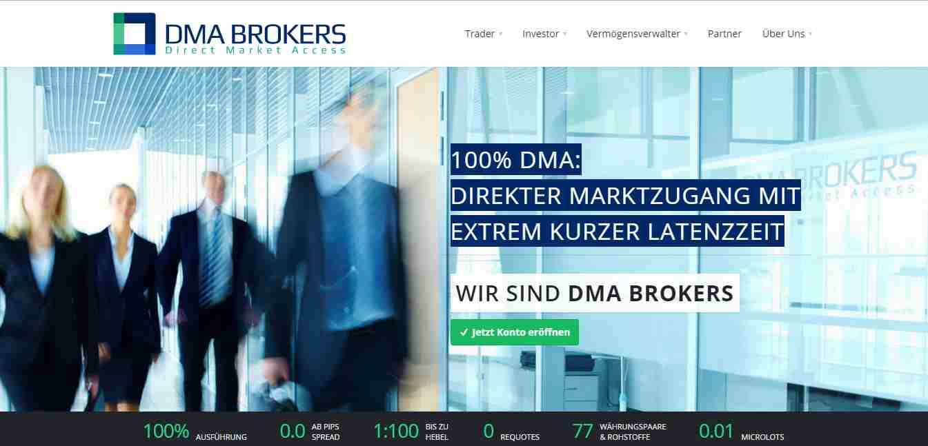 DMA Brokers Erfahrungen - Header