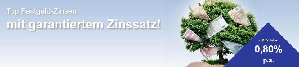 Credit Europe Festgeld - Header