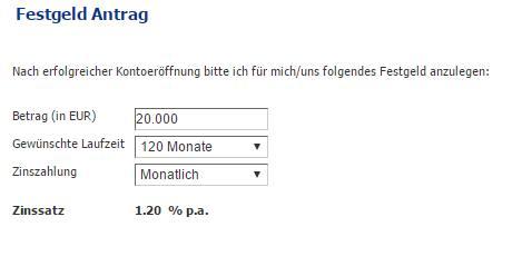 Credit Europe Festgeld - Online Formular