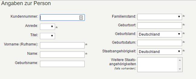 PBB Direkt Tagesgeld - Online Formular