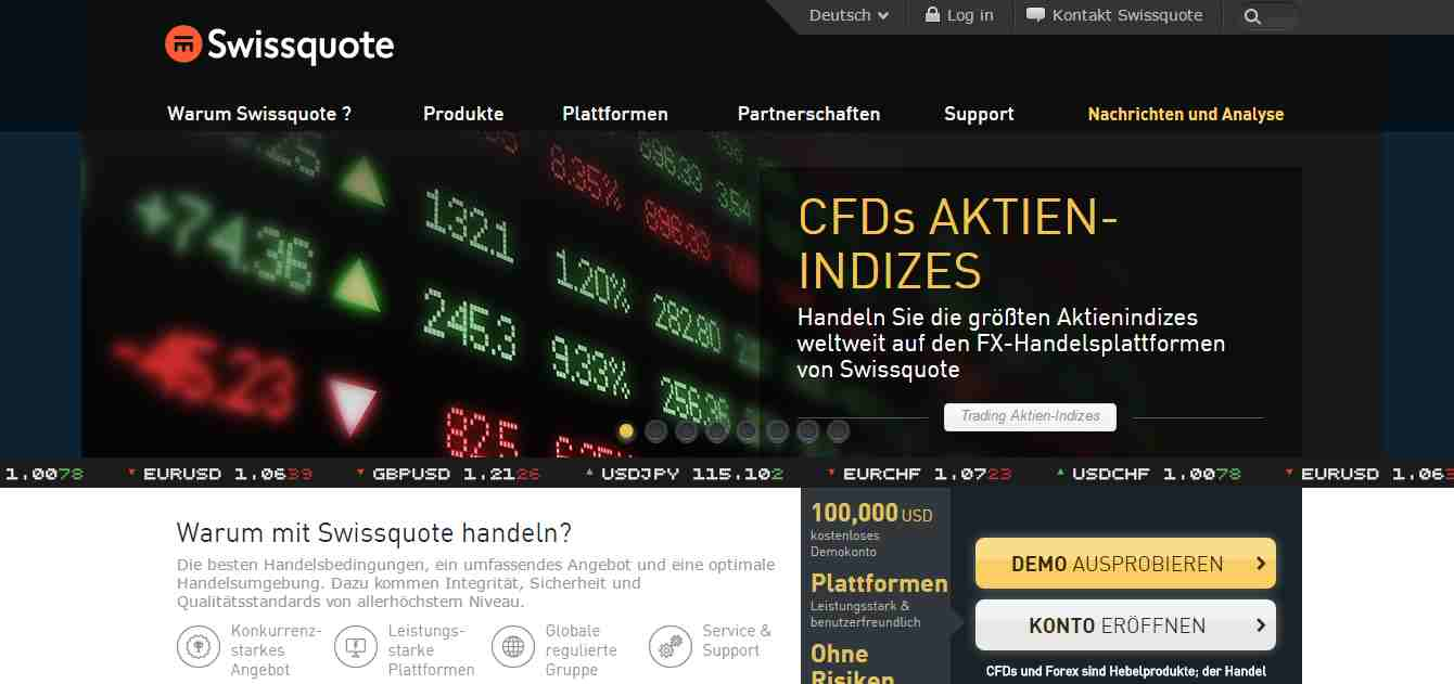 Swissquote forex broker